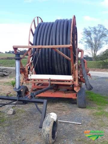 Carretel Irrigação com 200m de mangueira de 5 polegadas