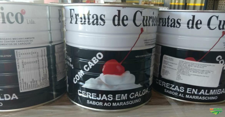 CEREJAS DE CURICO EM CALDA MARRASQUINO COM TALO E SEM TALO