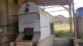 CALDEIRA SECAMAQ, LENHA,  GRELHA REFRIGERADA, 2.000 KG VAPOR HORA, 10 PMT - ANO 2004