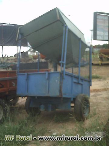 Carreta 2 rodas/adubadeira 2500 kg Jaboti