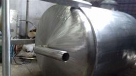 Tanque misturador em aço inox 316 - Volume 3000 litros com moto-redutor 7,5 CV.