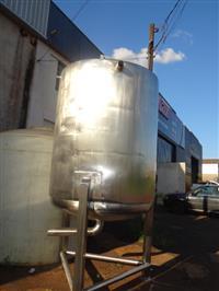 Tanque misturador em aço inox 316, volume 3000 litros com moto-redutor de 5 cv