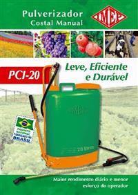 Pulverizador Costal Manual 20 Litros Embolo Latão Imep