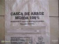 CASCA DE ARROZ MOÍDA E PALHA DE ARROZ MOÍDA