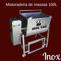 MIsturadeira de massas - Total inox 304 - Bacia basculante - Controle de velocidade