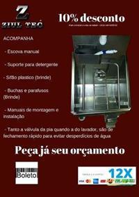 Lavador de botas + Lavador de mãos (pia de assepsia) em aço inox 430 - Higienização