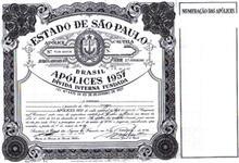 Vendo Títulos da Dívida Pública do Estado de São Paulo