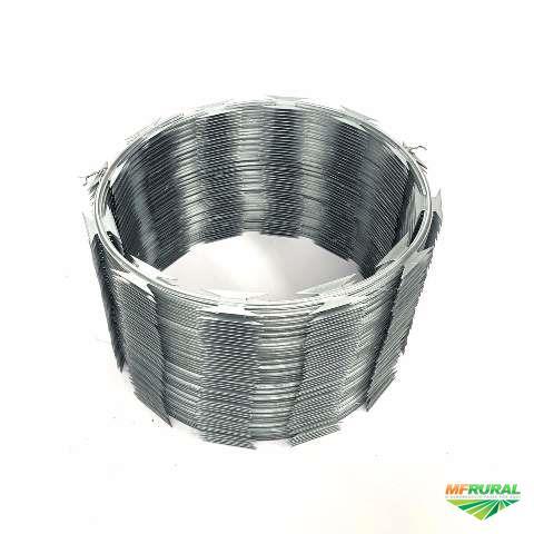 Concertina aço galvanizado 30cm e 45cm - Rolo 10m