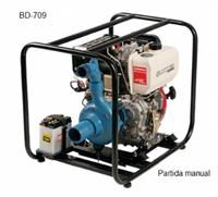 Motobomba BD-709 - Branco - centrifuga - Partida manual/elétrica