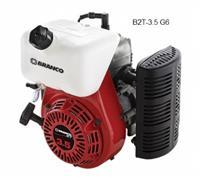 Motor B2T-3.5 G6 - Branco - Gasolina - Partida manual para uso em geral e em rabeta