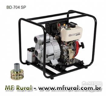 Motobomba BD-704 SP 3 - Branco - Biodiesel - Auto-escorvante - Partida elétrica