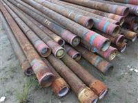 Tubos de aço 7 pol (diâm. 177,8 mm) x 0,362 pol (espessura 9,2 mm)