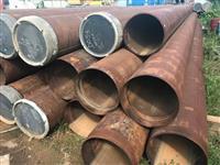 Tubos de aço sem uso e em