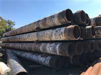 Tubos de aço sem uso e em bom estado de 24 pol (609,6 mm) x 1 pol (espessura 25,4 mm)