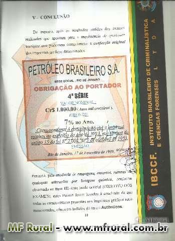 PETROBRÁS OBRIGAÇÃO AO PORTADOR