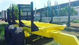 Carreta para transporte de madeira